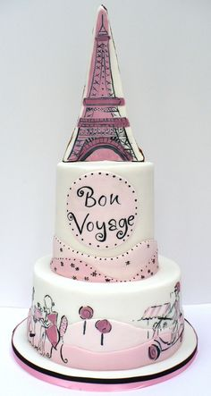 Lovely whimsical Eiffel Tower cake by Peggy Porschen