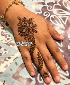 Floral Henna Designs, Bridal Henna Designs, Henna Designs Easy, Latest Mehndi Designs, Henna Tattoo Designs, Latest Finger Mehndi Designs, Mehndi Designs For Fingers, Heena Design, Mehedi Design