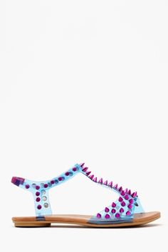 1f67cb81e90e Is any other Wildflower digging this Nasty Gal 90 s inspired spiked jelly  sandal  Love the