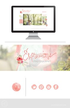 Hey Hey Haleigh: Logo + Website Design   Expressions Photography