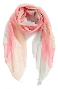 Pretty in pink! Woven scarf.