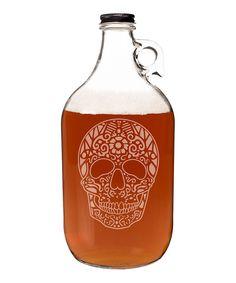 Loving this Sugar Skull 64-Oz. Craft Beer Growler on #zulily! #zulilyfinds