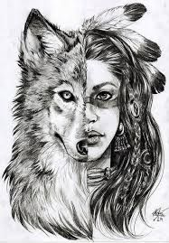 Image result for half human half animal face drawing