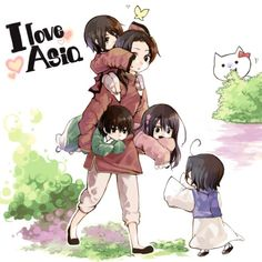 Hetalia - China / Japan / Taiwan / Hong Kong / South Korea / Shinnatty ~ I love Asia!