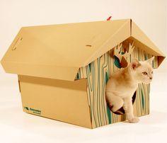 Mobilier pour animaux - Livraison gratuite! - Chalet en carton pour chats et pour chiens