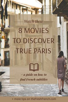 8 lovely movies that will help you discover Paris through the eyes of directors who lived there or who successfully avoid cliché shots of the Eiffel tower. Movie To Watch List, Good Movies To Watch, French Language Lessons, French Lessons, Netflix Family Movies, Paris France Travel, Giving Up On Life, French Movies, Family Movie Night