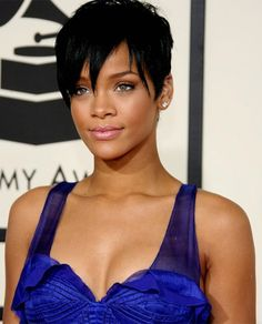 Rihanna Short  Hairstyle. I wonder how id look with this?