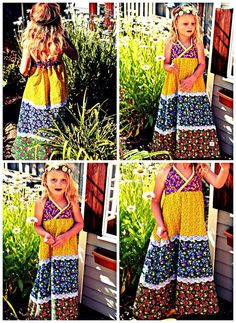 Boho Maxi Dress by Two Pink Flamingos. www.twopinkflamingos2.etsy.com