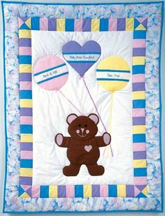 "baby quilt patterns | TLC Home ""Birth Bear Baby Quilt Pattern"""