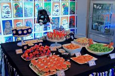 Food Table from a Star Wars Birthday Party via Kara's Party Ideas KarasPartyIdeas.com (17)