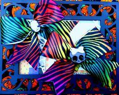 $6.25 set of 2. Zebra print with cameo skull or sugar skull. Etsy.com/shop/bowsnicecream
