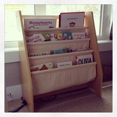Sling Bookshelf In Natural Kidkraft Organisation Getting Organized Organization Organizing