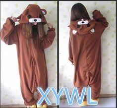 Kigurumi brown Cute loli bear costume cosplay adult romper sleepwear xmas in Unisex   eBay