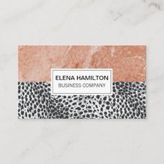 Leopard Print | Orange Marble Color Block Business Card Company Business Cards, Keep It Cleaner, Smudging, Paper Texture, Holiday Cards, Marble, Things To Come, Writing, Orange