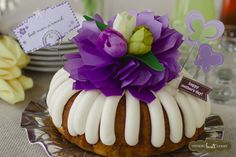 Take time to lay out all of your table decorations the night before. This will leave more time for cele'bundting Mom! | Nothing Bundt Cakes