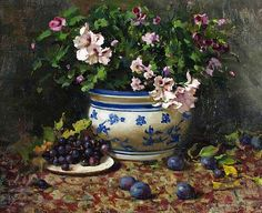 Del Gish - 'Geraniums' - The Art Spirit Gallery of Fine Art
