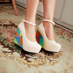 Lovely Bohemian Round Toe Wedge Shoes