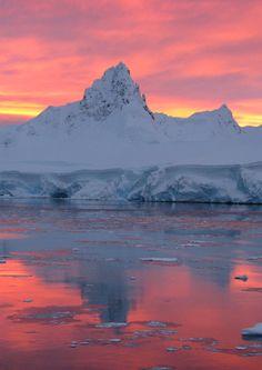 Sunrise (or sunset?) in Antarctica.
