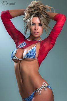 Abigail Clancy:  body paint for Sports Illustrated