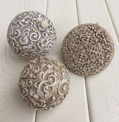 Ажурные шары: Техника имитации резного кружева. 16 декабря в 15:30
