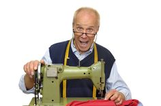 Photo about Mature tailor with a sewing machine isolated in white. Image of business, machine, nostalgia - 14022373 Sewing Class, Sewing Tools, Love Sewing, Sewing Hacks, Sewing Tutorials, Sewing Projects, Sewing Patterns, Sewing Machine Repair, Sewing Alterations