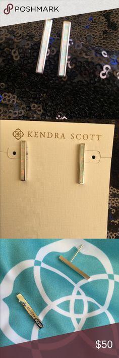 Kendra Scott Simone White opal in silver tone hardware Kendra Scott Jewelry Earrings