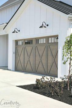 Modern Farmhouse Garage Door