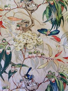 One of my all time favorite Gumnut Babies Bedding Set - Very Rare Original May Gibbs Fabric Illustrators, Artist Inspiration, Botanical Illustration, Australian Art, Flower Art, Painting, Illustration Art, Art, Collage Art