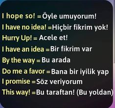 Good Vocabulary Words, Grammar And Vocabulary, Learn Turkish Language, Learn A New Language, Language Quotes, Language Study, English Grammar, English Language, Turkish Lessons