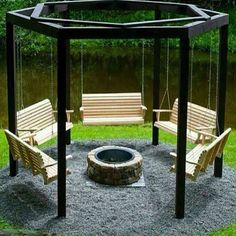 Swings Around Fire Pit Awesome