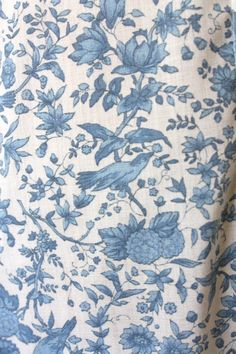 detail of vintage 1960's bird print party dress by Thrush