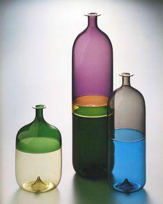 "Alvar Aalto earned his title of ""father of modern Finnish design"" but Tapio Wirkkala. Pots, Clear Vases, Small Vases, Modern Love, Modern Design, Spirited Art, Global Design, Bottle Design, Ceramic Artists"