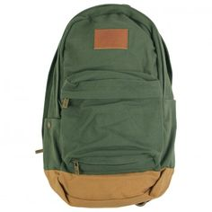 Brixton Basin Backpack in Olive / Brown