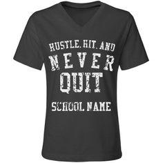 Hustle, Hit Vintage Misses Relaxed V-Neck T-Shirt Football Sister, Football Mom Shirts, Bulldogs Football, Volleyball Shirts, Custom Football, Football Design, Vintage Football, Sports Shirts, Football Tshirt Designs