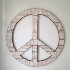 Large 24 Rustic Wood Peace Sign Wall Decor By Onelove On Etsy