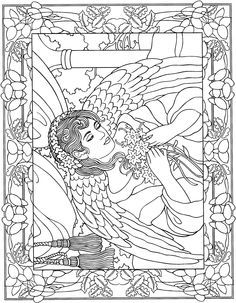 Beautiful Angel Coloring Page