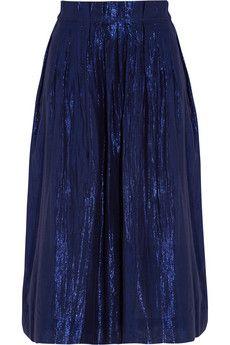 J.Crew Metallic cotton-blend voile skirt   NET-A-PORTER