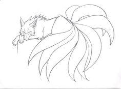 Japanese Nine-Tailed Fox Legend | Nine-Tailed Beauty sketch by Kitsune-95