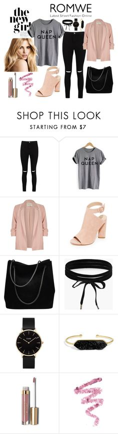 """""""ROMWE"""" by bykaty ❤ liked on Polyvore featuring Boohoo, River Island, Kendall + Kylie, Gucci, CLUSE, BaubleBar, Stila and Cynthia Rowley"""
