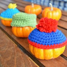 need another creative way to decorate your mini pumpkins why not dress them up as