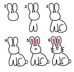 How to Draw a Bunny - a sure way to get kids hyped up about Easter