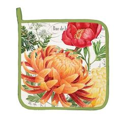 KITCHEN Potholder ~ MORNING BLOSSUMS ~ Michel Design Works (NEW) LARGE   #MichelDesignWorks
