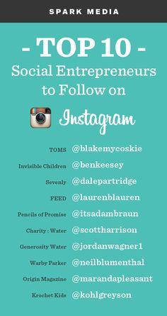 TOP 10 Social Entrepreneurs to Follow on Instagram.