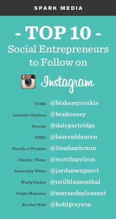 TOP 10 Social Entrepreneurs to Follow on Instagram.