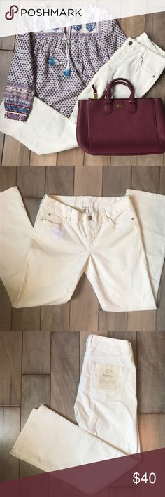 J. Crew Off-White Corduroy Pants New! Right pocket is slightly whiter, but not too noticeable. Price is negotiable, just make me an offer! J. Crew Pants Boot Cut & Flare