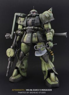 "Custom Build: Mega-Size 1/48 Zaku II ""Aftermath"" - Gundam Kits Collection News and Reviews"