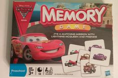 Memory Game Disney Pixar Cars 2 Edition Brand New in Sealed Box 2011 #Hasbro