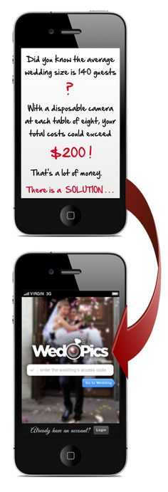 WedPics is an interactive wedding album created by your guests (Get the invite: www.WedPics.com). Spend more time enjoying your memories and less time chasing them down. Available for iPhone, Android and Web. Launching AUGUST 7th!