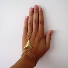 Triangle Bracelet Brass Vintage Minimalist Ring Finger Holster