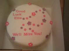 Ellie's Goodbye Cake by Mary Eliza Jade, via Flickr
